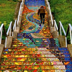 Stairway to Heaven? An amazing mosaic staircase in San Francisco!