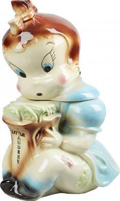 Rare American Bisque Little Audrey Ceramic Cookie Jar