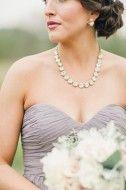 Justin & Mary Photography via Southern Weddings - Rhea in Blush, Jessie in Hint of Mint, & Morgan in Grey Ridge