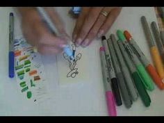 TUTORIAL: How to get Copic-like results with Bic Mark-Its or Sharpie markers.