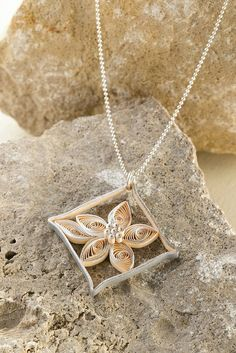 Quilled Diamond Pendant by all things paper, via Flickr