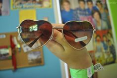 Heart-shaped sunglasses ♡