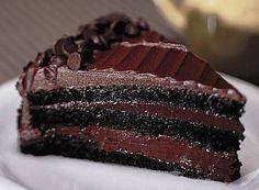 Bolo de chocolate mousse