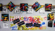 kindergarten line painting and sculpture making.