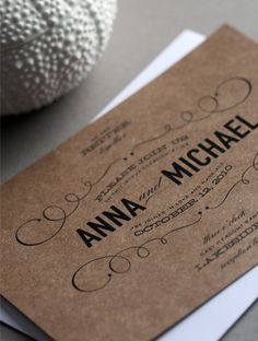 Awesome type, AND one-color on kraft paper.