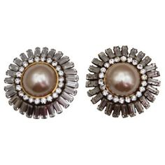 Check out this item at One Kings Lane! Chanel Rhinestone Earrings