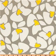 We love grey and yellow together
