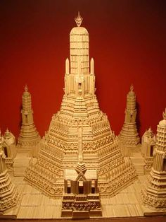 Photo Of Building Made Out of  Tooth Picks
