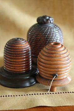 Bees:  #Bee #skep string holders.