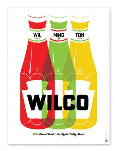 Wilco Wilmington  Show poster for a summer performance of Wilco in Wilmington.by the head of state