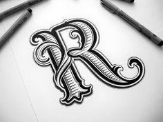 Hand Lettering by Mateusz Witczak graphic, monogram letters, hand lettering