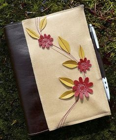 garden journal made from repurposed leather.