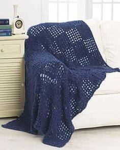 This soft and cozy crochet throw makes a great gift or accent for your home. Approx 51 x 67 ins [129.5 x 170 cm]