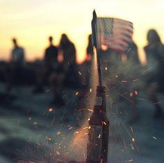 US flag attached to bottlerocket = descecration of the US flag.