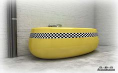 not sure who would want a Yellow Cab style bathtub, but the option exists