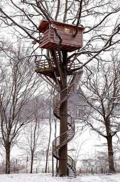 A lookout treehouse!