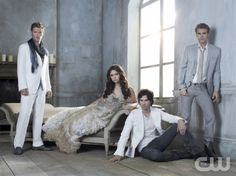 The Cast of the Vampire Diaries. Totally obsessed w/ this show.