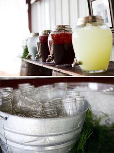 Rustic Florida Farm Wedding - mason jar glasses