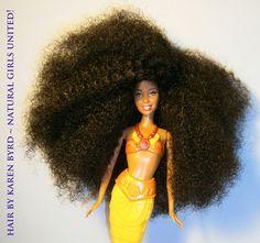 kinky hair Mermaid doll