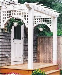 Covering a side or back door. Pergola--love!