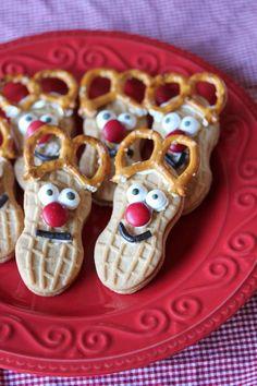 nutter butter reindeer cookies christmas treats