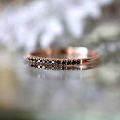 Rose gold and black diamonds