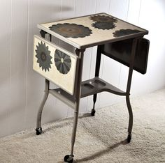 Upcycled Vintage Typewriter Table Cart Portable by TheVelvetBranch, $98.75