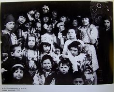 Children at puppet show, Russia, 1921