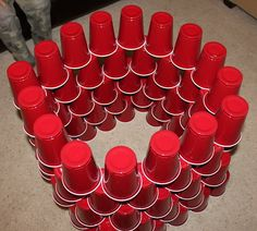 Build with cups!  Great for a rainy day.
