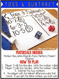 Step into 2nd Grade with Mrs. Lemons: Subtraction Games! (Awesome free ideas!)
