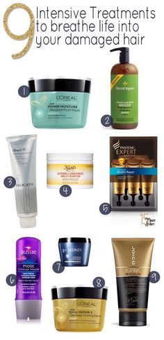 9 Best Hair Treatments For Your Damaged Hair!!