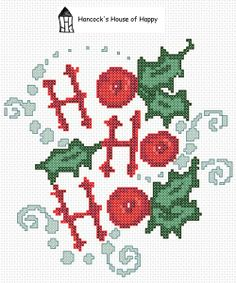 hancock's house of happy: Ho! Ho! Ho! A Free Festive Cross Stitch Chart and a Free Christmas Cross Stitch Compendium!