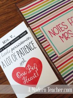 DIY Teacher / Colleague Gift; Free Printable; Acrylic Note Tray