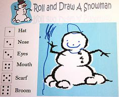 roll and draw a snowman game