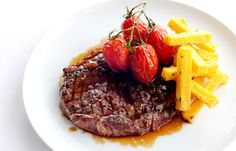 Rib-eye of beef with polenta chips - Robert Thompson