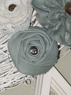 no sew rolled rosettes