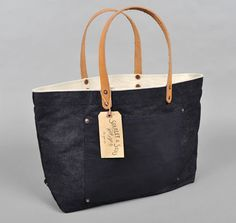Denim tote by Stanley & Sons