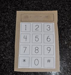 learning phone number task