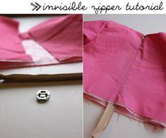 sewing 101: the easiest zipper - see kate sew costura bordado, foot fetish, kate sew, sew idea, dica de, de costura, sew 101