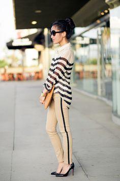 Tuxedo Stripes :: Silk blouse
