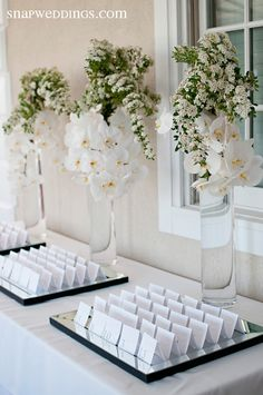 name cards on mirrors...add candles