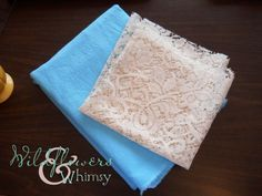Linen and Lace infinity scarf tutorial