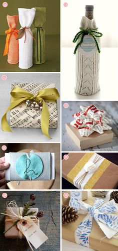Gift wrap ideas for the holidays, so cute and Eco-friendly!