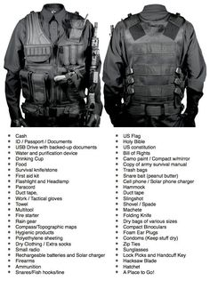 Packing List for your: INCH (I'm Never Coming Home bag), EE (Escape and Evasion kit), BOB (Bug Out Bag), GHB (Get Home Bag), IDF (Intruder Defense Bag), or Survival Kit Be prepared in case of: Civil Unrest, Hurricane, Invasion, Flood, Zombies, Divorce or general caught with your pants down situation!