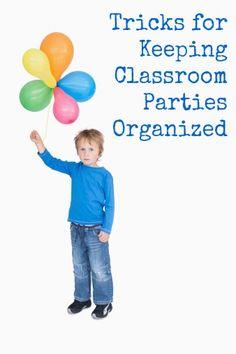 Keep Classroom Parties Organized