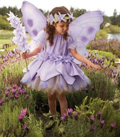 lavender flower fairy girls costume - Only at Chasing Fireflies - Your imagination will conjure up that heavenly lavender fragrance when this Flower Fairy™ is nearby.