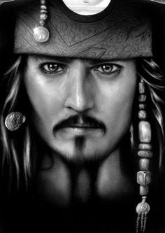 Captain Jack Sparrow by Jackolyn.deviantart.com on @deviantART