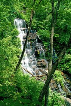 Upcountry, SC  Issaqueena Falls is one of over 150 waterfalls to explore in the Upcountry.
