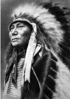 * Hollow Horn Bear ~Tribe: Brule Dakota  Born in Sheridan Country, Nebraska, son of Chief Iron Shell, Hollow Horn Bear earned his early fame as a warrior. He fought with the leading chiefs of the Plains against subjugation until the 1870s; after that, he favored peace with the whites. His likeness appeared on a fourteen-cent stamp as well as on a five-dollar bill ~ Artist by: steeelll *