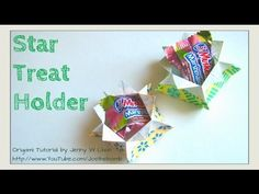 DIY HALLOWEEN CRAFTS - How to Fold Origami Box/Star Box - Treat & Candy ... ***